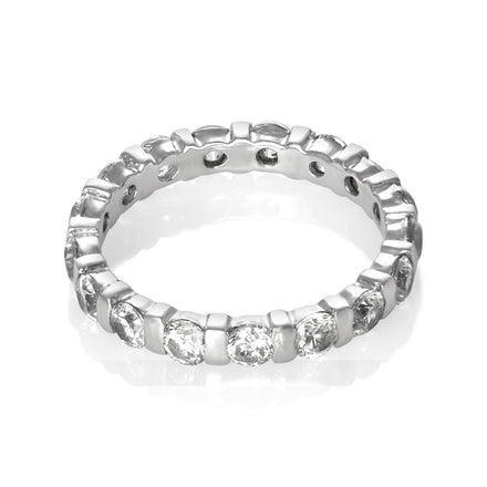 RZ-5370 CZ Eternity Band | Teeda