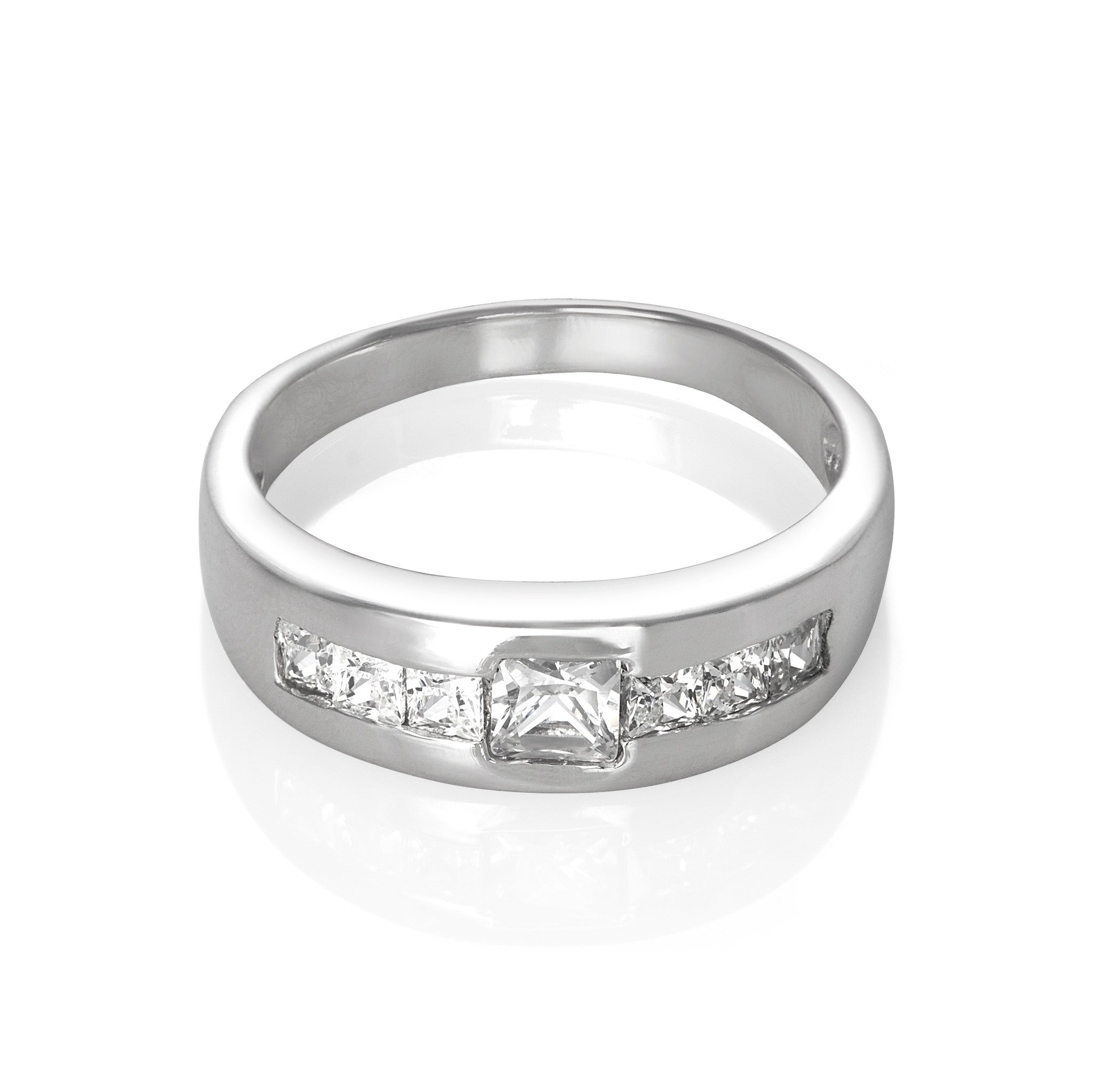 RZ-5710 Cubic Zirconia CZ Men's Ring | Teeda