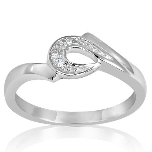RZ-6580 Horseshoe CZ Ring | Teeda