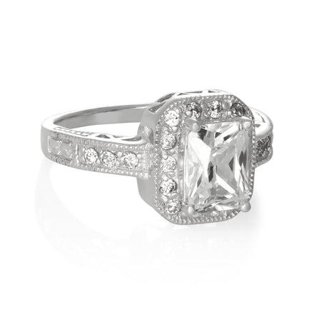 RZ-6590 Cocktail Fancy CZ Ring | Teeda