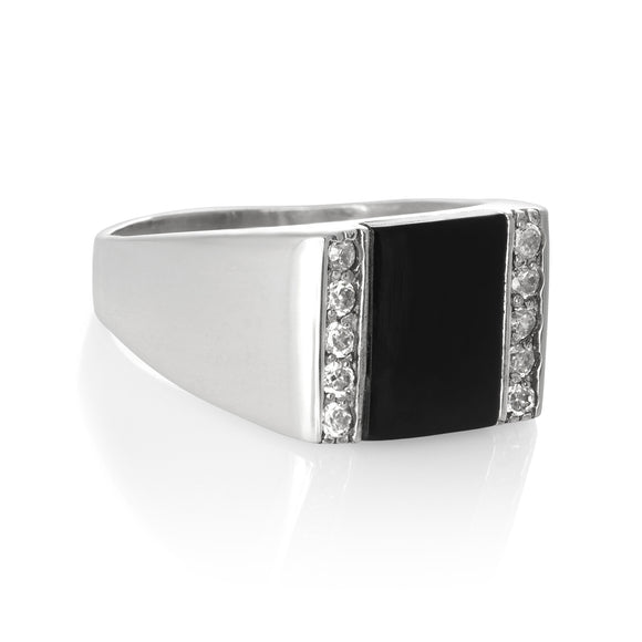 RZ-6690 Men's Inlay CZ Ring | Teeda