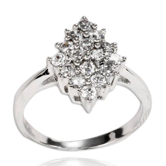 RZ-7043 Marquise-Shaped Cluster Ring | Teeda