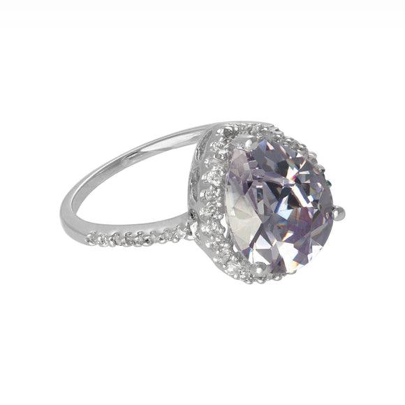 RZ-7044 Pear CZ Halo Cocktail Ring | Teeda
