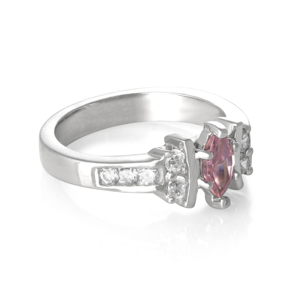 RZ-7048 Marquise and Round CZ Ring | Teeda