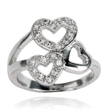 RZ-7049 Open Heart Trio CZ Ring | Teeda