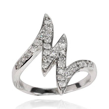 RZ-7050 Zig Zag Channel Set CZ Ring | Teeda