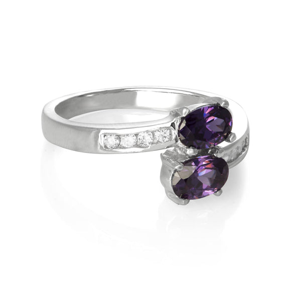 RZ-7055 Oval Duo CZ Ring | Teeda