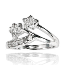 RZ-7056 Twin Flower CZ Ring | Teeda