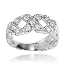 RZ-7058 Squared Open Twist CZ Ring | Teeda
