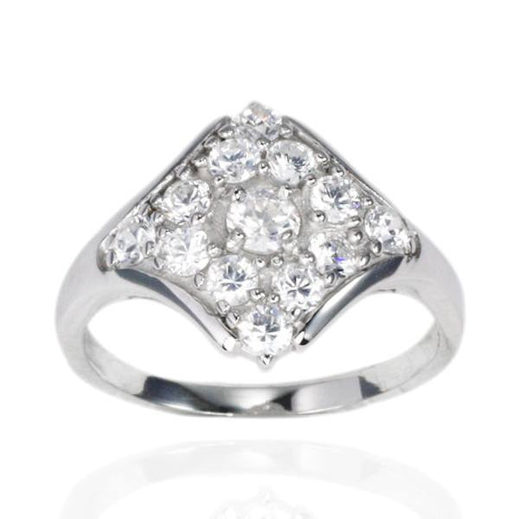RZ-7060 Diamond Cluster CZ Ring | Teeda