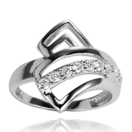 RZ-7065 Angles CZ Ring | Teeda