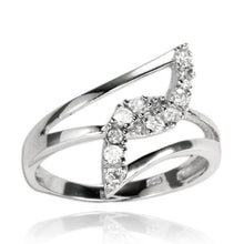 RZ-7070 Interlocking Angles CZ Ring | Teeda