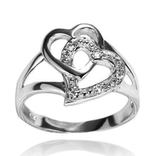 RZ-7071 Interlocking Open Hearts CZ Ring | Teeda