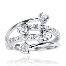 RZ-7074 Four Shooting Stars CZ Ring | Teeda