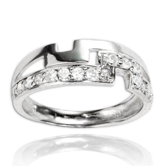 RZ-7076 Puzzle Channel Set CZ Ring | Teeda