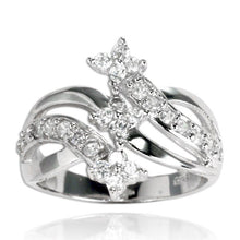RZ-7077 Shooting Star Triplet CZ Ring | Teeda