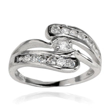RZ-7078 Wave Channel Set CZ Ring | Teeda
