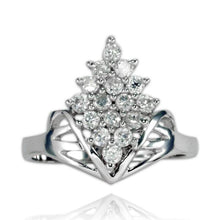 RZ-7080 Diamond Cluster CZ Ring | Teeda