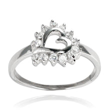 RZ-7082 Open Heart CZ Ring | Teeda