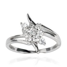 RZ-7083 Wave and CZ Cluster Ring | Teeda