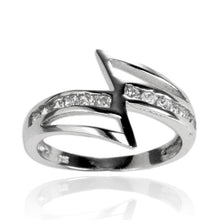 RZ-7086 Zig Zag Channel Set CZ Ring | Teeda