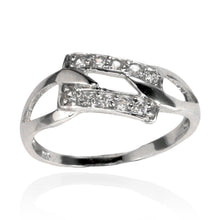 RZ-7097 Interlocking Open Square CZ Ring | Teeda