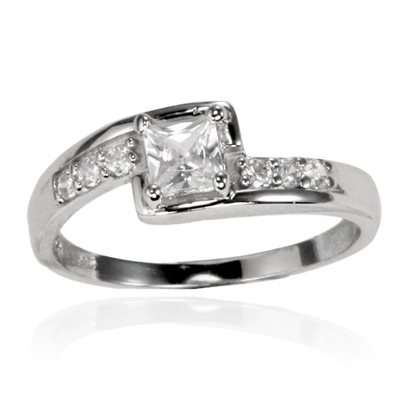 RZ-7099 Square Cut CZ Ring | Teeda