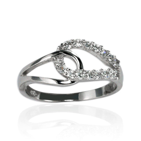 RZ-7102 Locking Loops CZ Ring | Teeda