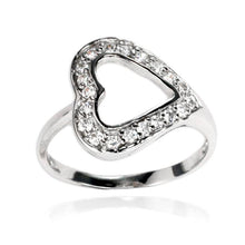 RZ-7103 Open Heart CZ Ring | Teeda
