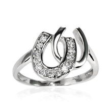 RZ-7122 Double Horseshoe CZ Ring | Teeda