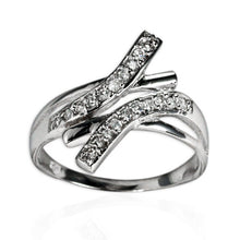 RZ-7131 Curved Bars CZ Ring | Teeda