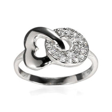 RZ-7132 Heart and Circle CZ Ring | Teeda