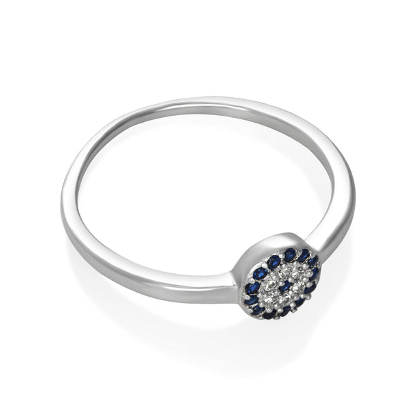 RZ-7152 Evil Eye Cubic Zirconia Ring