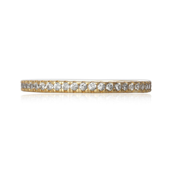 RZ-7156 Nouveau Cubic Zirconia Eternity Ring - Gold-Plated | Teeda
