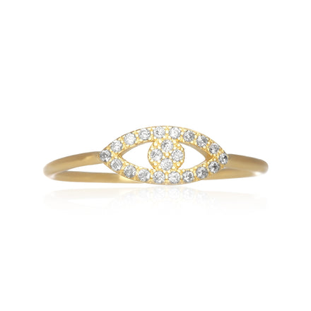 RZ-7158 Evil Eye Cubic Zirconia Ring - Gold | Teeda