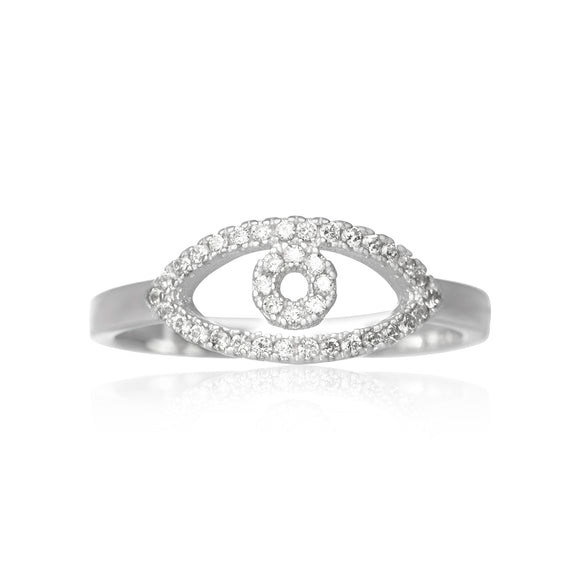 RZ-7160 Evil Eye Cubic Zirconia Ring | Teeda