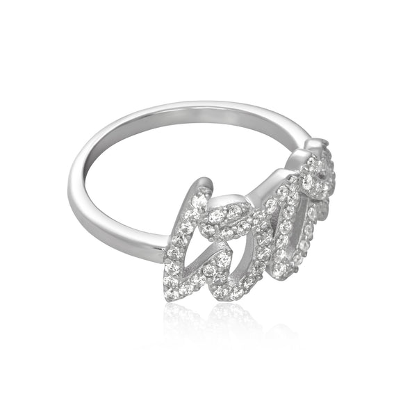 RZ-7166 Love Cubic Zirconia Ring