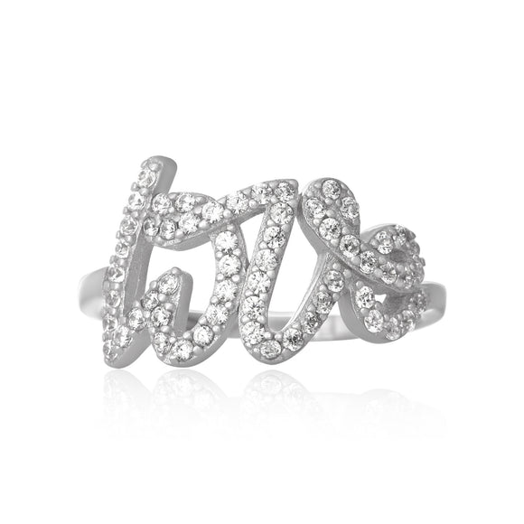 RZ-7166 Love Cubic Zirconia Ring | Teeda