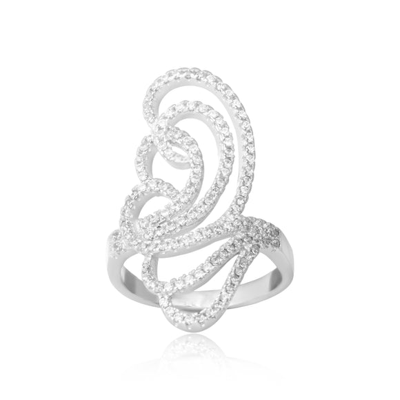 RZ-7171 Butterfly Silhouette CZ Ring