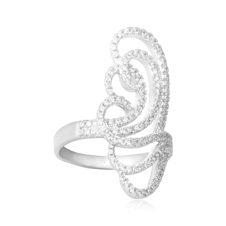 RZ-7171 Butterfly Silhouette CZ Ring | Teeda