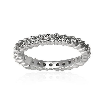 RZ-8114 Eternity Band CZ Ring | Teeda
