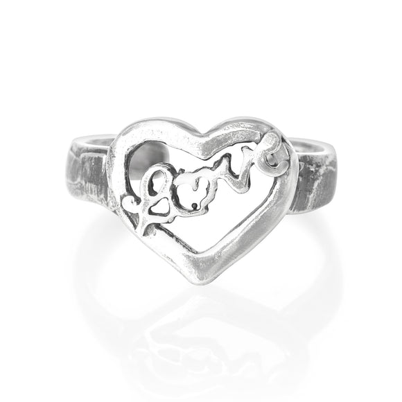TR-1010 Love Floating Heart Toe Ring | Teeda