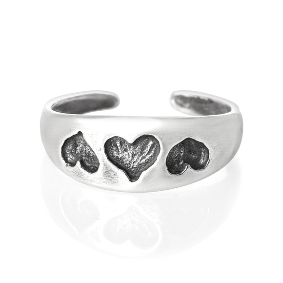 TR-1020 Hearts Toe Ring | Teeda