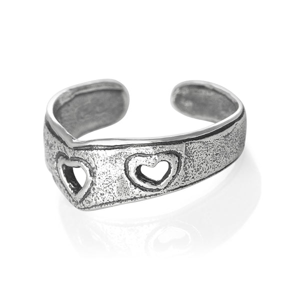 TR-1030 Hearts Toe Ring | Teeda
