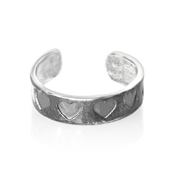 TR-1040 Hearts Toe Ring | Teeda