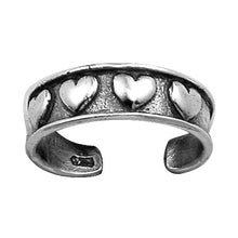 TR-1050 Hearts Toe Ring | Teeda