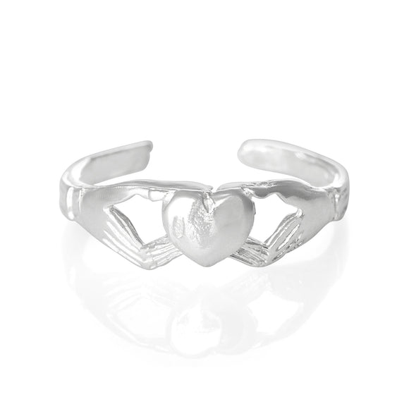 TR-1070 Claddagh Heart Toe Ring | Teeda