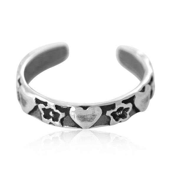 TR-1100 Hearts and Stars Toe Ring | Teeda