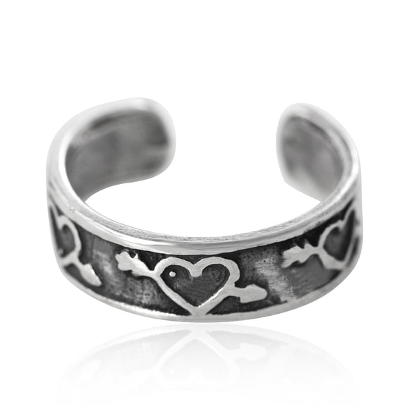TR-1110 Cupids Heart Toe Ring | Teeda