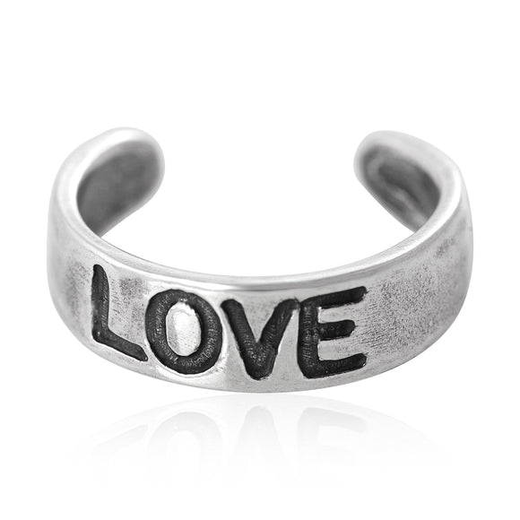 TR-1120 Love Toe Ring | Teeda